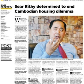 Sear Rithy determined to end Cambodia housing dilemma